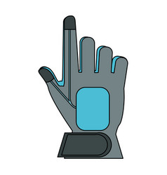 robot hand technology vector image