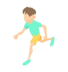 Runner icon cartoon style vector
