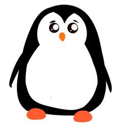 sad little penguin on white background vector image
