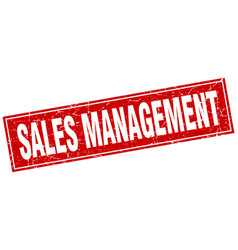 Sales management square stamp vector