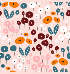 seamless pattern with flowers creative vector image