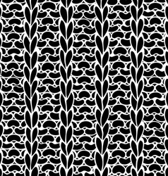Seamless Ribbing Stitch silhouettes pattern vector