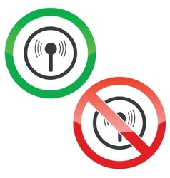 Signal permission signs vector
