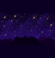 Starry sky with bright and dim stars in the vector