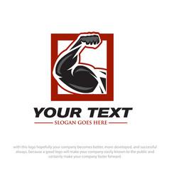 strong power logo designs vector image