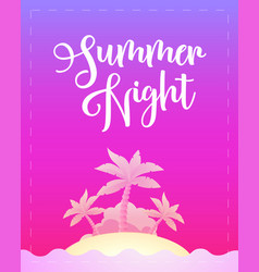 summer night - template poster for party vector image