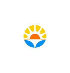 sun solar environment logo vector image