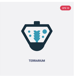 Two color terrarium icon from animals concept vector