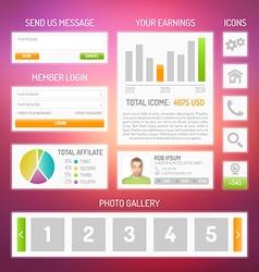 User interface kit vector image