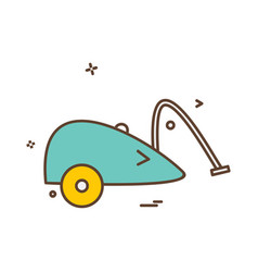 Vaccum cleaner icon design vector
