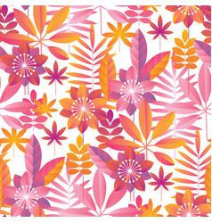 Vibrant pink and yellow tropical seamless pattern vector