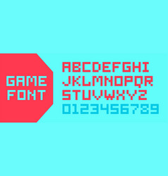 video game pixel font vector image