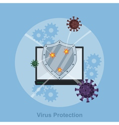 virus protection vector image