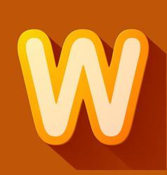Volume icons alphabet w vector
