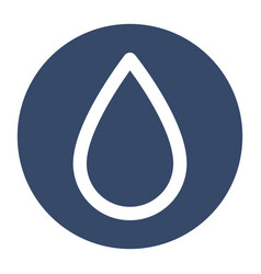 Water drop isolated icon vector