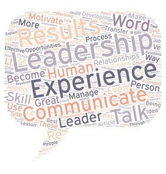 Your Experience The Leadership Talk Great vector