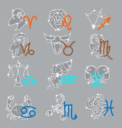 Zodiac signs month vector