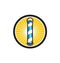 Barber Pole Circle Retro vector image vector image