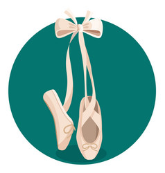 black and white pointes female ballet shoes on vector image vector image
