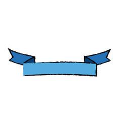 blue ribbon banner blank decoration element vector image