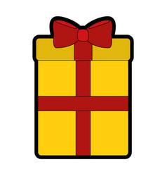 gift box cartoon vector image
