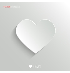 Heart icon - web background vector image