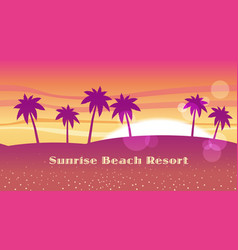 Seamless beach resort vector