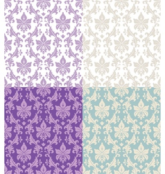 seamless floral damask vector image vector image