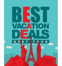 best tour vector image