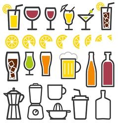 Beverage thin line symbol icon vector image