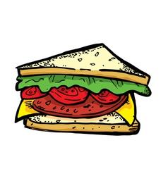 BLT sandwich vector image vector image