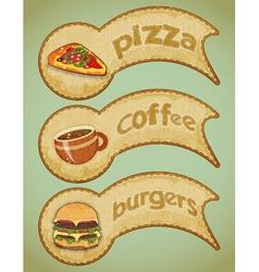 food labels retro vector image vector image