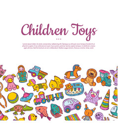 hand drawn children or kid toys vector image