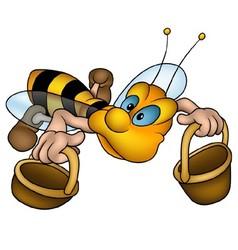 Flying little bee vector