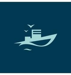 Ocean Ship sign vector image vector image