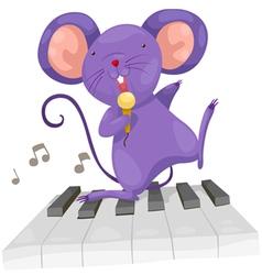 rat sing vector image vector image
