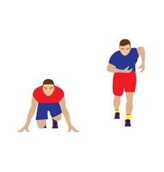 Runner Sportsman vector image