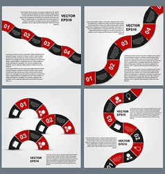 Set of Infographics design template vector image vector image