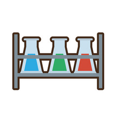 test tube laboratory research rack vector image