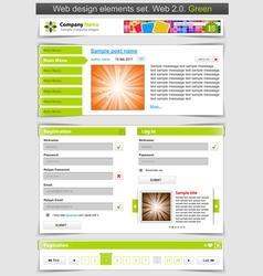 web design template set vector image