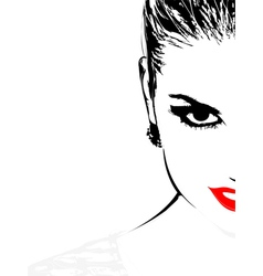woman face vector image vector image