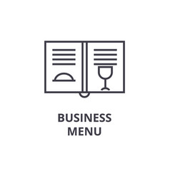 business menu line icon outline sign linear vector image vector image
