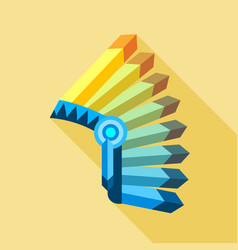 indian hat icon flat style vector image