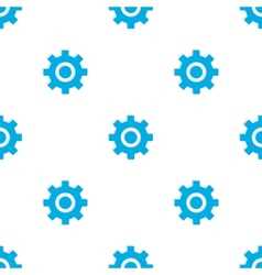 Seamless pattern with blue gears vector image