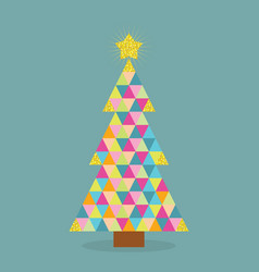 Abstract colorful pointy triangle christmas tree vector