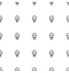 air balloon icon pattern seamless white background vector image