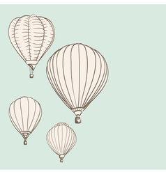 air balloons vector image