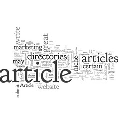 Article directories ten great reasons to submit vector