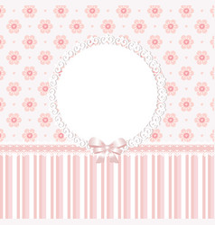Baby pink floral background vector