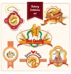 Bakery emblems set vector